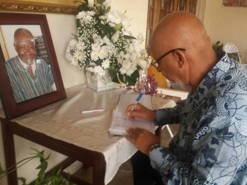 signing the book of condolence